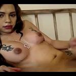 My Tattooed Cam Tranny Loves To Wank