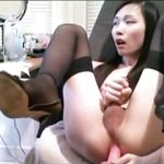 Cute Asian Tranny Fucking Her Ass On Live Cam