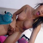 Young Tattooed Latina Tranny Does A Hot Cam Show