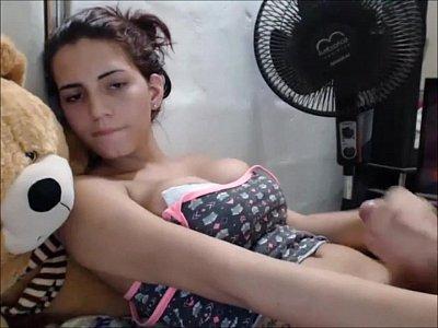 My Perfect Latina Cam Tranny Girl Jerks Off