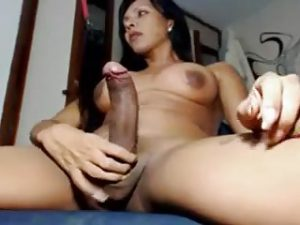 My Trans Cam Lady Has A Perfect Long Dick