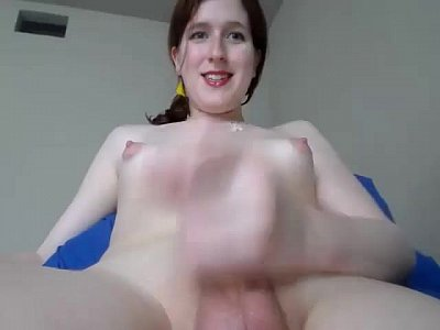 My Teen Cam Tranny Jerks Off And Cums On Show