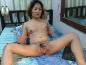 Asian Shemale Naked In Front Of Her Cam