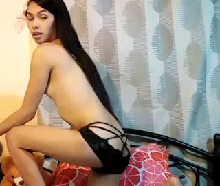 Cute Asian Ladyboy Does A Hot Striptease Show On Cam