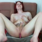 Pale Redhead Tranny Is Online On Her Cam Show