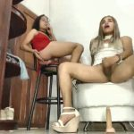 Two Latina Trannies Masturbate On Free Live Webcam