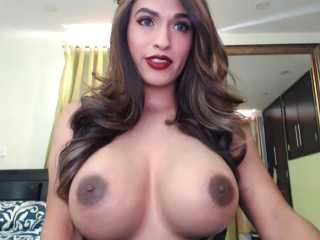 My Beautiful Busty Shemale Lauralove Shows Off Her Giant Tits On Live Webcam