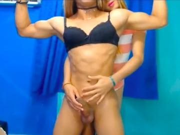 Muscular Tranny Worship Cam